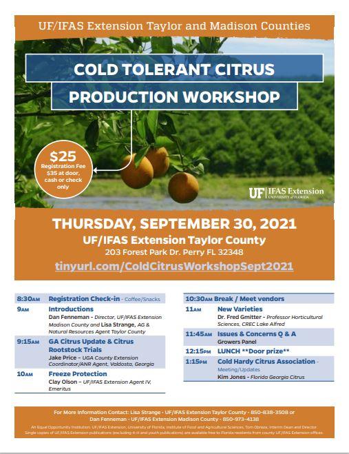 Cold tolerant citrus production workshop